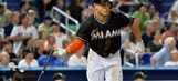 Giancarlo Stanton comes through in playoff atmosphere against Nationals
