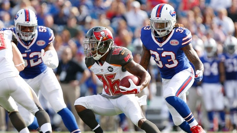 October 22: Tampa Bay Buccaneers at Buffalo Bills, 1 p.m. ET
