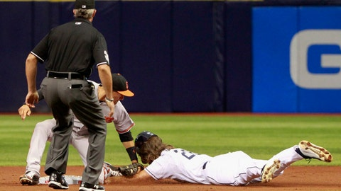April 6: John Jaso out with wrist injury in game one