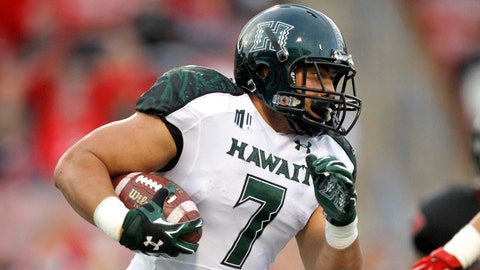 Joey Iosefa, RB, Hawaii, seventh round (No. 231 overall)