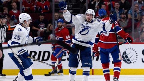 Win 5: Lightning 2, Canadiens 1 (2OT) (Lightning lead 1-0)