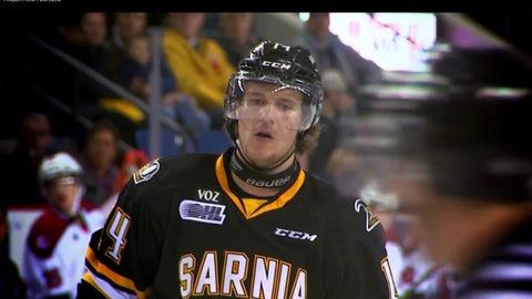 8. Pavel Zacha, C, Sarnia Sting (OHL)