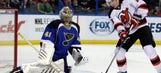 Recap: Halak strong in net, Blues beat Devils 3-0