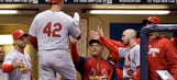 Pair of monster home runs put finishing touch on Cards' win in Milwaukee