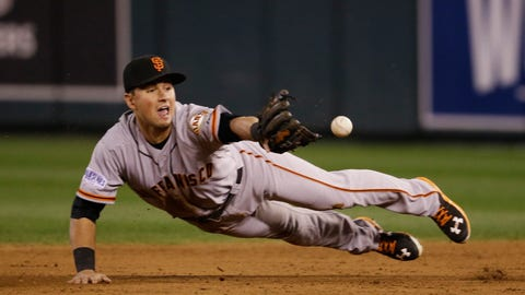 23. Joe Panik, 2B, San Francisco Giants (.308, 7 HR, 33 RBI)