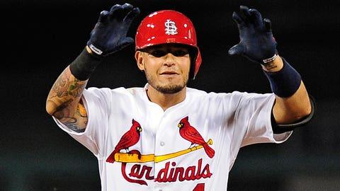 24. Yadier Molina, C, St. Louis Cardinals (.284, 2 HR, 32 RBI)