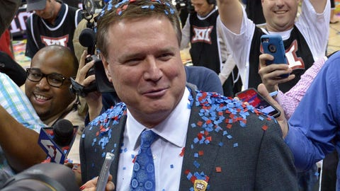 This win basically clinches Kansas' 13th straight Big 12 title