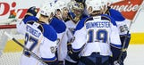Recap: Blues shut out Flames 5-0, win seventh straight
