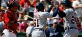 Cabrera homers twice, Tigers maul Cards 17-5