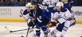 Schwartz scores twice, Blues sprint past Oilers 6-2