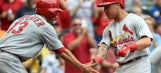 Cardinals pull into first-place tie with 10-2 win over Brewers