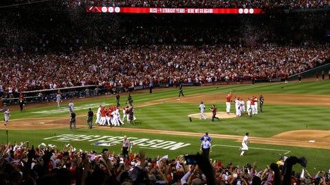 Cardinals celebrate trip to NLCS