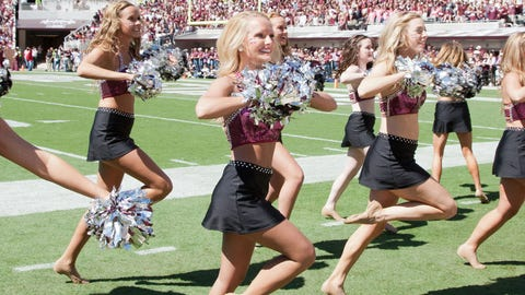 SEC football cheerleaders 2014