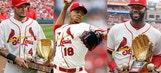 Gold Gloves + Cardinals Saturday jerseys = A fun day at Busch