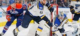 Blues place Bortuzzo on IR, recall Hunt from Wolves