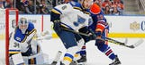Blues place Edmundson on IR, recall Lindbohm