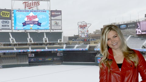 Kendall braves the cold and snow