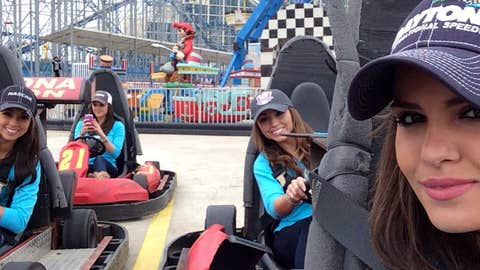 Getting in the Daytona 500 spirit with a trip to the go-kart track