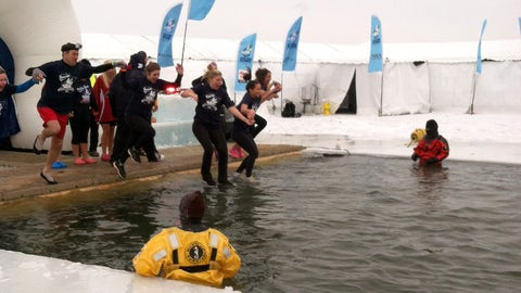 Kendall, Angie and Kaylin take the plunge for Special Olympics Minnesota.