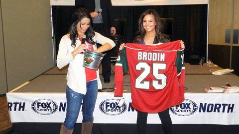 One lucky winner won this autographed Jonas Brodin jersey