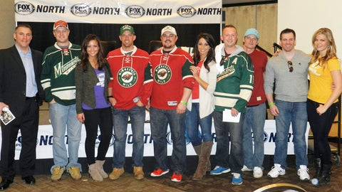 A group shot with Wes Walz before the guys headed over to the Xcel Energy Center to cheer on the Wild