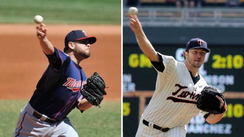 2. It's a bit early to read too much into the first few starts for Ricky Nolasco (left) and Phil Hughes.