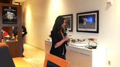 A behind-the-scenes look as Angie gives viewers at home a glimpse inside the Target Field Premium Suites.