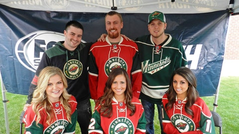 Meet & Greet with fans before Game 3 of the Wild & Blackhawks series.