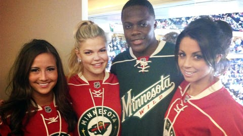 We found new Viking, Teddy Bridgewater up on the suite level. Welcome to Minnesota, Teddy!