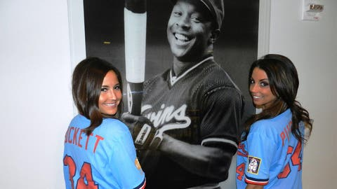 The first 10,000 fans at Target Field received these Kirby Puckett throwback jerseys. We sure miss that smile of his.
