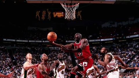 Chicago Bulls (4-2) vs. Seattle Supersonics, 1996