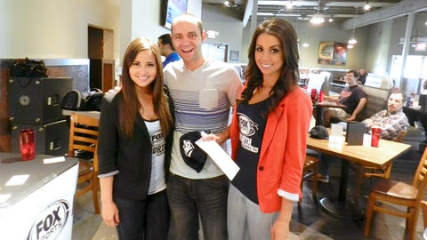 Another lucky winner from the FOX Sports North HD Viewing Party.
