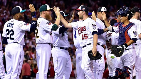Target Field hosts 2014 MLB All-Star Game and Twins closer Glen Perkins gets the save