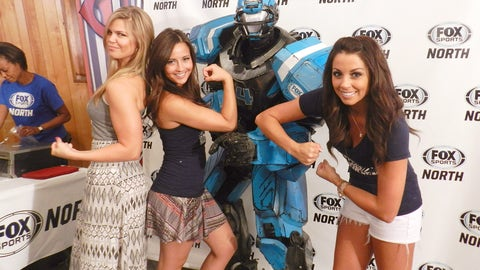 We think our FOX Sports North Girls could give Cleatus a run for his money.