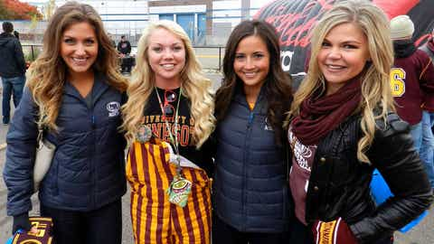 Angie, Kendall and Jennifer had a blast meeting all the student fans that came out for homecoming 2014!