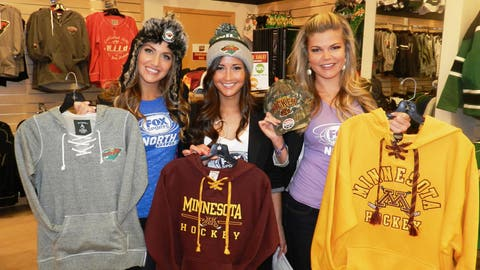 A day at the Mall of America wouldn't be complete without shopping for team apparel!