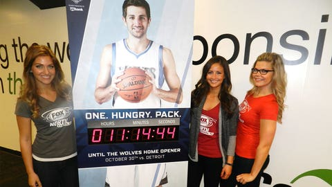 The countdown is almost to zero and the FOX Sports North Girls are ready to welcome the Wolves back to Target Center.