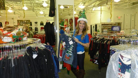 Jennifer looks for the perfect outfit to wear to Friday's Minnesota Wild game. The FOX Sports North Girls will judge the first-ever Minnesota Wild Ugly Christmas Sweater contest.
