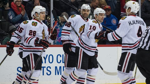 Chicago Blackhawks at Minnesota Wild: 1/8/15