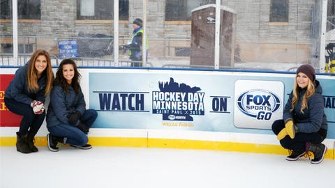 The FOX Sports North Girls get excited for the day's events. Fans across the country were able to watch the outdoor games streaming live on the FOX Sports GO app.