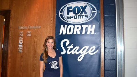Jennifer, Angie & Kendall helped to host a Twins Q&A with current & former players on the FOX Sports North Stage.