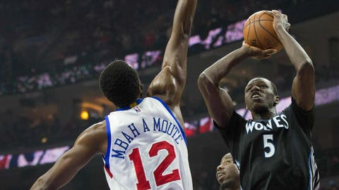 Timberwolves at 76ers: 1/30/15