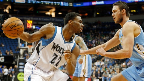 PHOTOS: Nuggets 100, Wolves 85