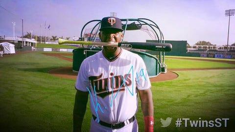 Kennys Vargas, Twins first baseman