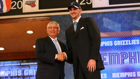 Grizzlies trade Kevin Love to Minnesota in the 2008 NBA Draft