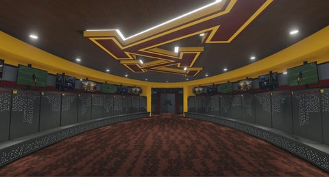 Football Performance Center Locker Room