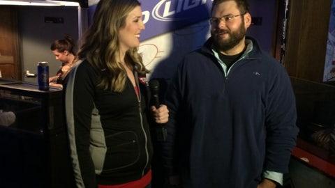 CBJ Fan Cam from R Bar on Jan 10