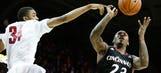 SMU ends No. 7 Cincinnati's 15-game streak, 76-55