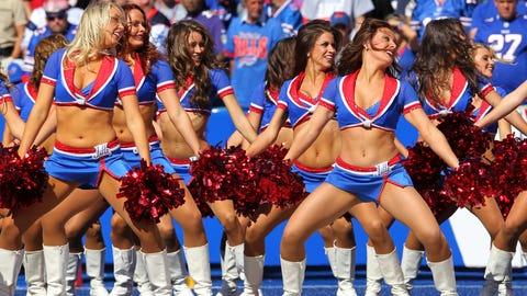 Bills cheerleaders