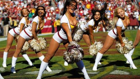 Redskins cheerleaders